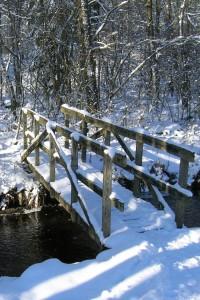 snöig bro