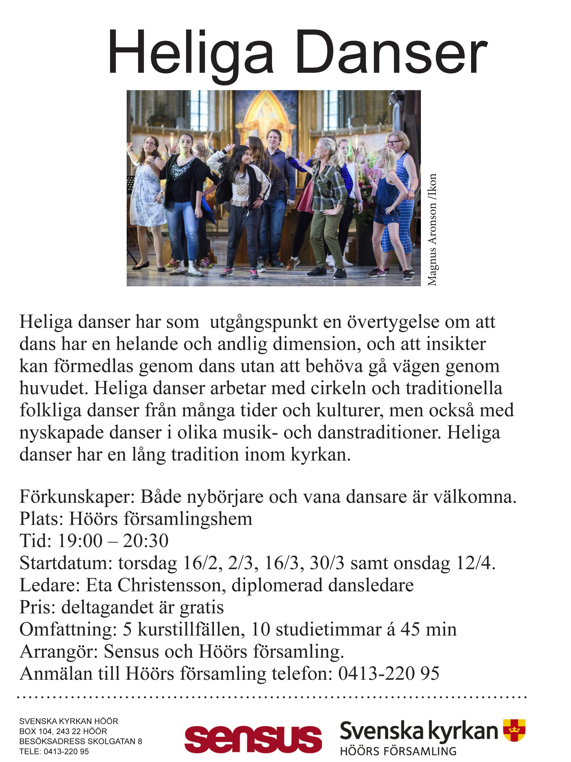 Affisch Höörs församling danscirkel vt - 17